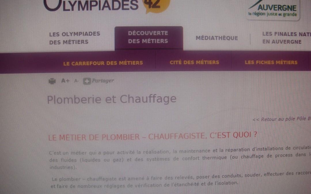 La plomberie aux Olympiades des métiers !